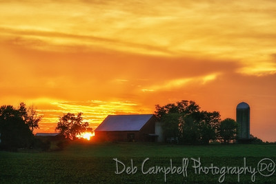 Sunset at the Delozier Farm