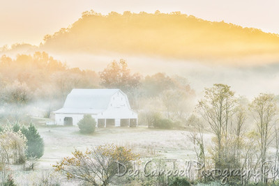 Frost, Fog and a Barn