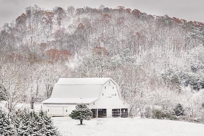 White Barn Winter