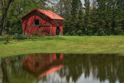 Red Barn Reflections