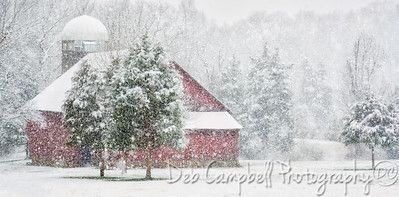 Heavy snow at the Red Barn