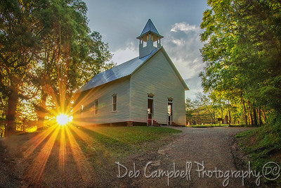 Sundown at the Methodist Church
