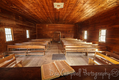 Interior of Primitive Baptist Church