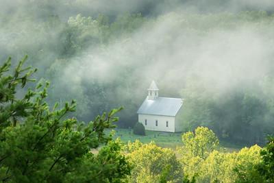 Methodist Church in the Fog