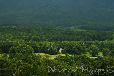 The Methodist Church in Cades Cove View from Rich Mountain Road Great Smoky Mountains