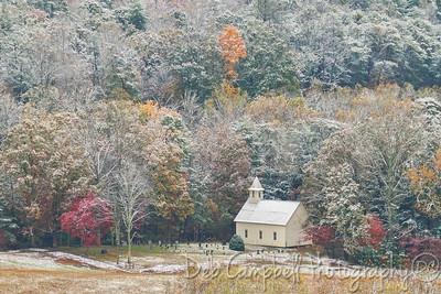The Methodist Church in Autumn Snow