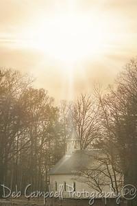 Sunburst over the Methodist Church