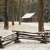 Carter Shields Cabin in Snow
