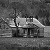 Old Island View Schoolhouse (black and white)<br /> Boyds Creek Hwy<br /> Sevier County, Tennessee