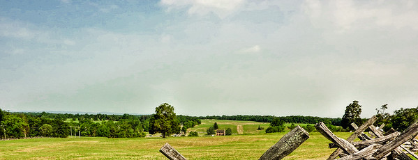 Looking West from Henry House over the Manassas Battlefield