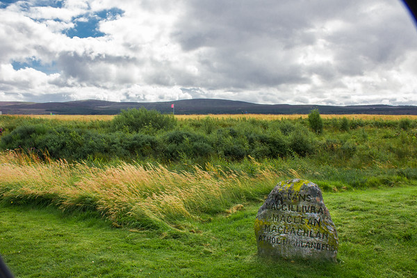Culloden Battlefield, Scotland (the red flag is the English line)