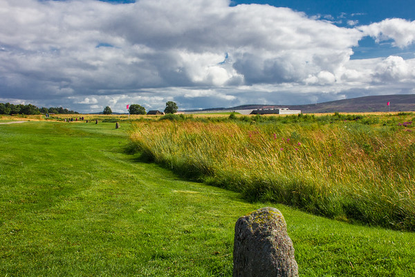 View toward the English line, Culloden Battlefield, Scotland