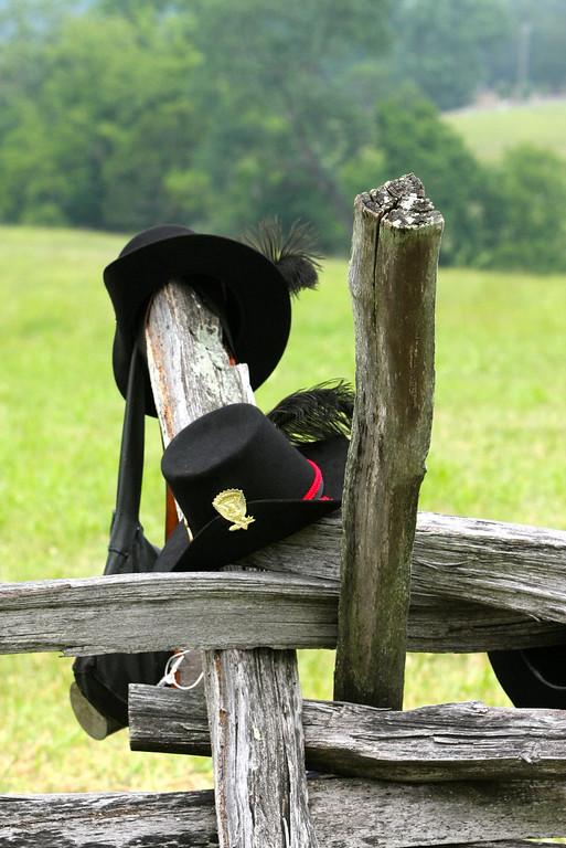 Handy fence posts at Manassas battlefield