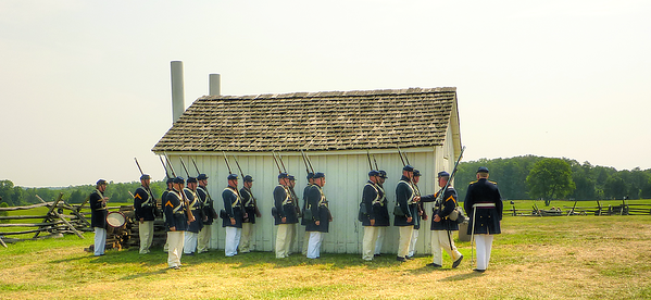 Marines near Henry House, Manassas Battlefield