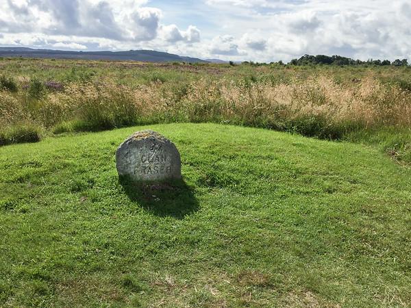Clan Fraser mass grave at the Culloden Battlefield, Scotland.