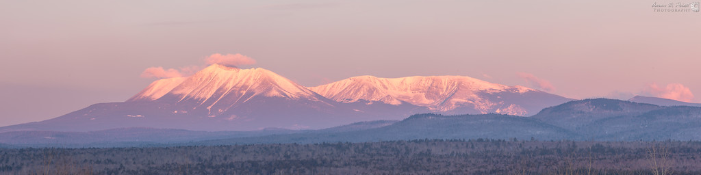 Sunrise over Mt. Katahdin from Stacyville