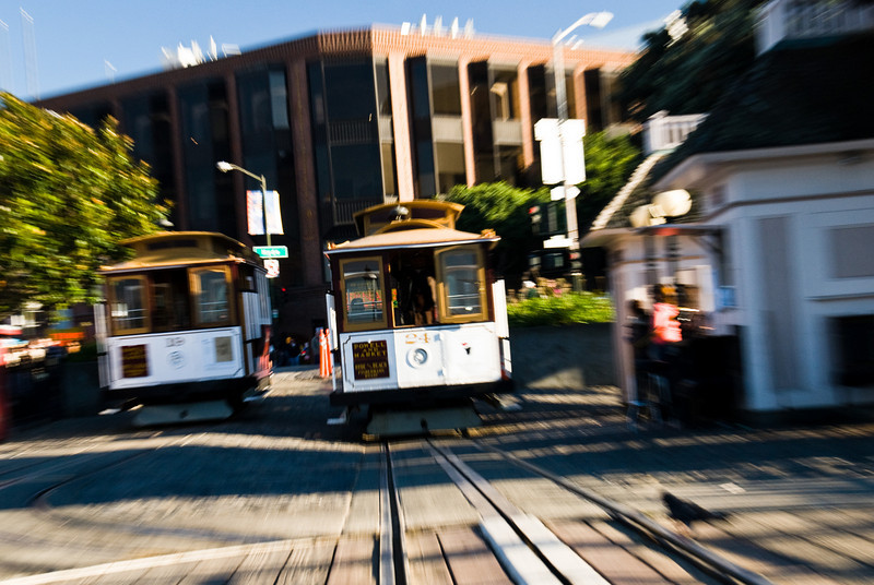 Zooming in on a Cable Car at the Hyde St. turnaround.