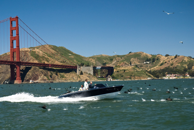 Hybrid or no – here Frauscher's eco motoryacht is causing a stir among the local wildlife.