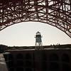 Fort Point, right underneath the Golden Gate Bridge.