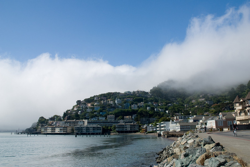 Very picturesque fog hanging over Sausalito.