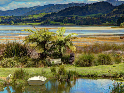 Shelley bay, near Waihi, from the Rotary garden, Bay of Plenty, New Zealand, HDR