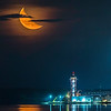 Half Moon over City Portrait 1