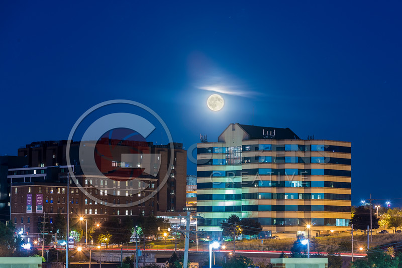 Moon over 100 State From New Garage 1
