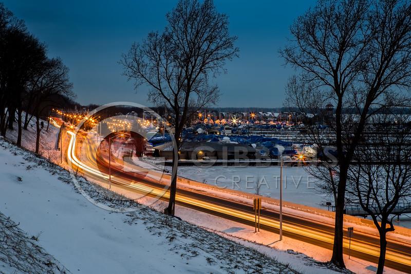 Bayfront Parkway Frozen Morning