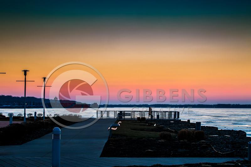 Bayfront Frozen Sunset