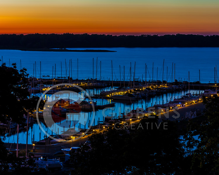 Lincoln Ave Sunset Erie Yacht Club