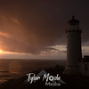 110  G North Head Lighthouse Sunset Raindrop