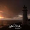 110  G North Head Lighthouse Sunset Raindrop