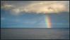 Regenbogen über dem Wattenmeer