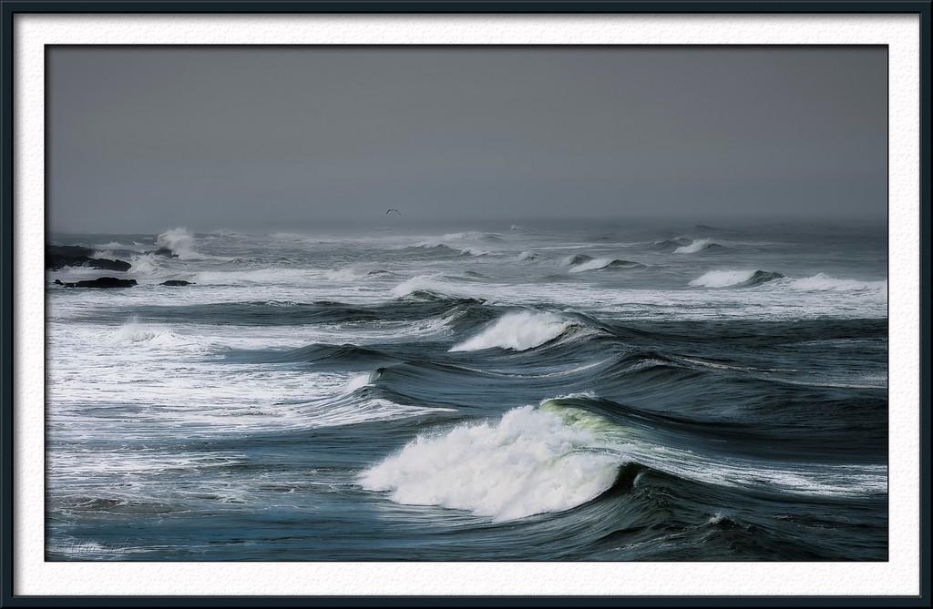Waves at Oregon Beach