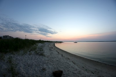 Pike's Beach at sunset.