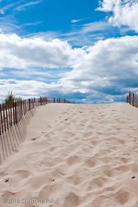 Beach Path. Watch Hill, Rhode Island.