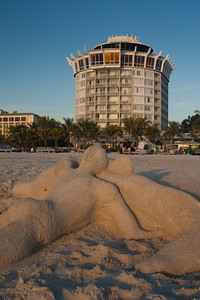 Sand Sculpture on Hotel beach