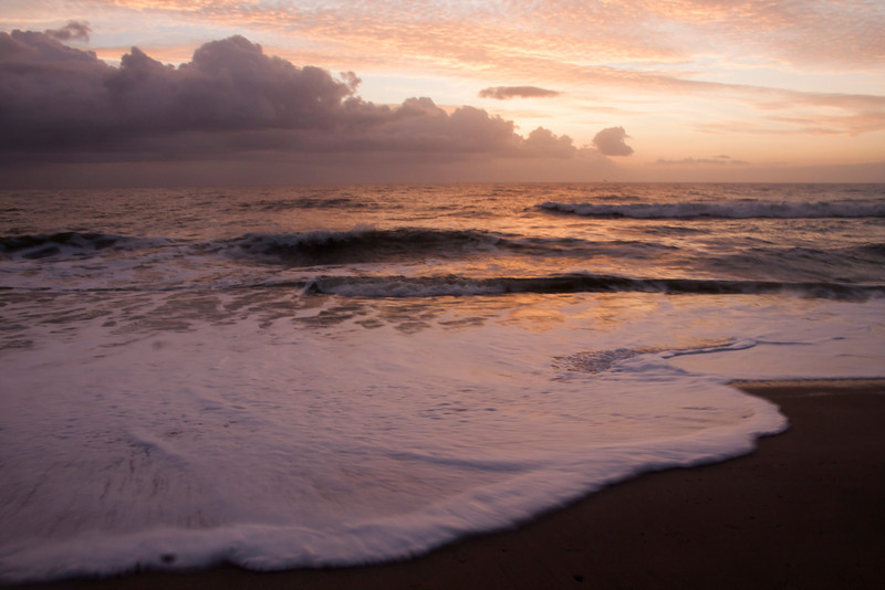 Soft sunrise, Kure Beach, North Carolina.