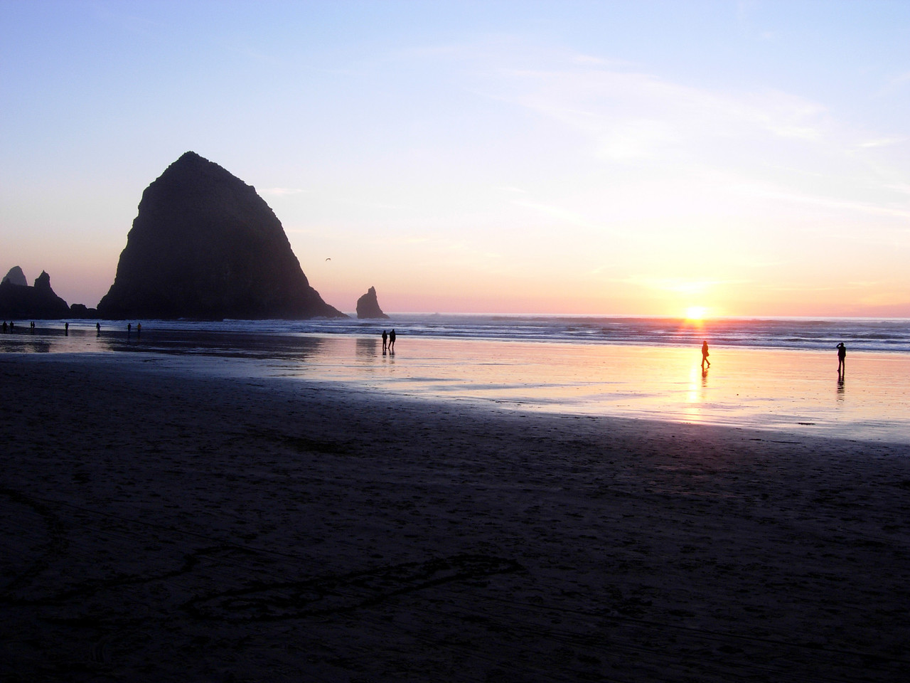 Haystack Rock @ Sunset I - Cannon Beach, OR 2007