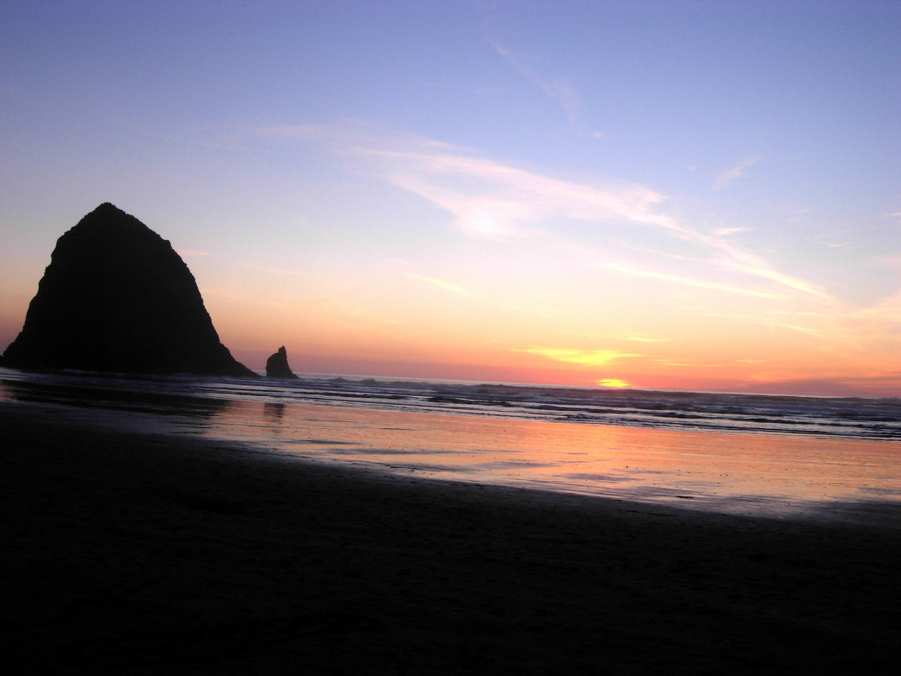 Haystack Rock@ Sunset II - Cannon Beach, OR 2007