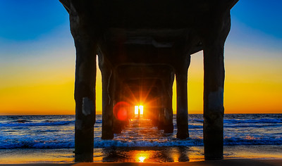 Sunset Through the Pier