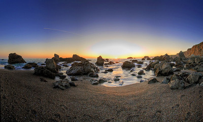 Arched Rock Beach Pano