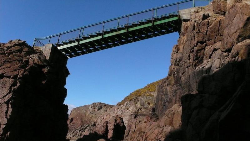 Plemont Bridge....don't look down...