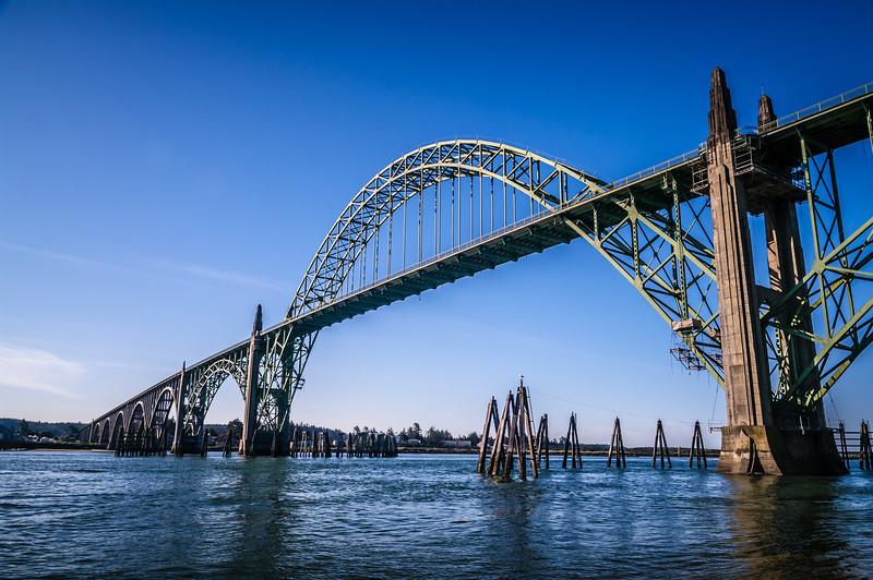 The Yaquina Bay Bridge, Newport, OR, USA