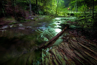 Night shot at Beaver's Bend State Park. A full moon and clear skies along with an abundance of artificial lighting and long exposures produce some interesting and eerie nightscapes.