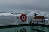 View of the sunny conditions from the back of the ship