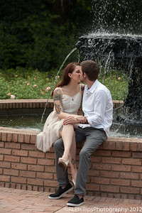 An engagement photo at the Gardens