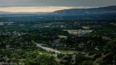 SLC downtown, captured w a 50mm lens.. Intersection of 9700S and Wasatch.