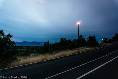 Wasatch Blvd lights were still on when I got there.