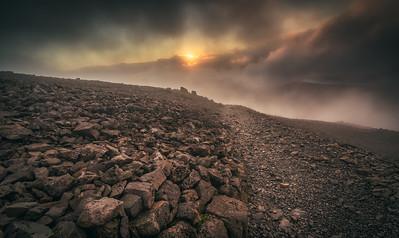Ben Nevis & Clouds Breaking